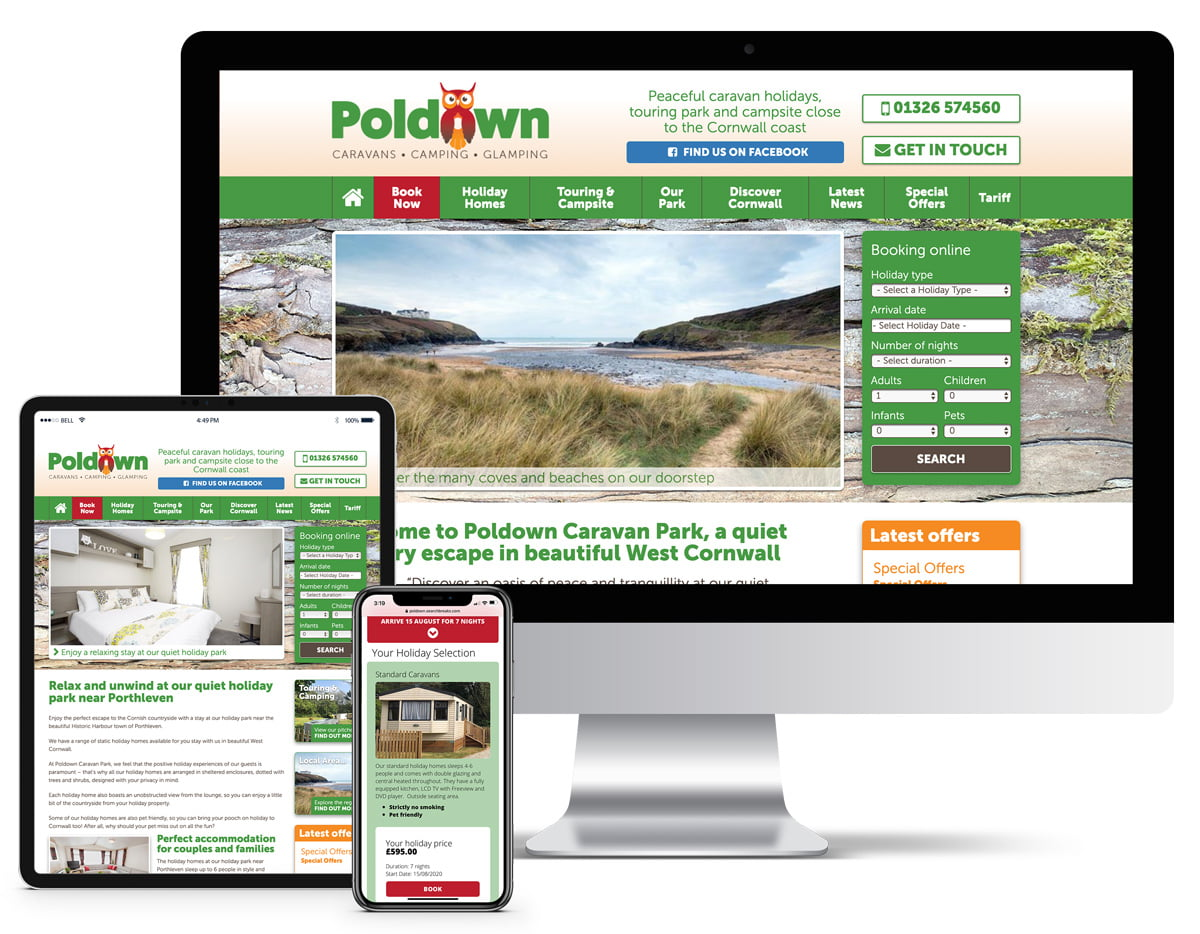 Poldown Bespoke Website Design