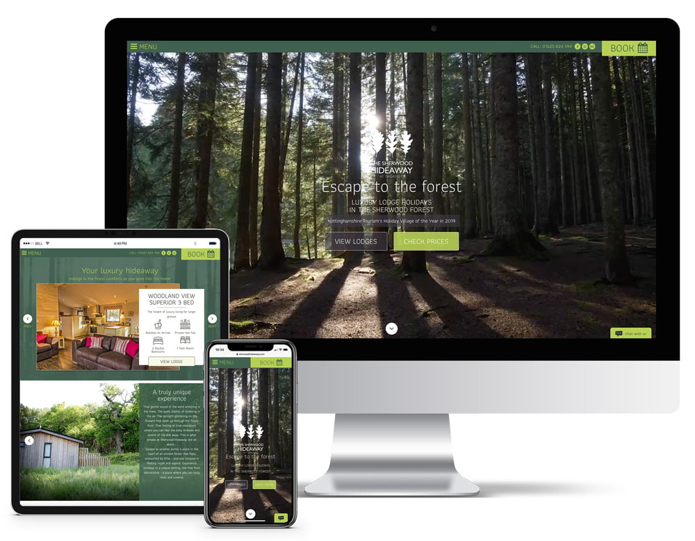 Sherwood Hideaway Website Design