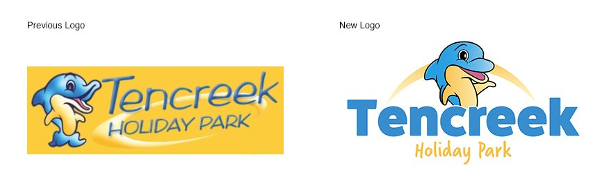 Tencreek Holiday Park, logo evolution