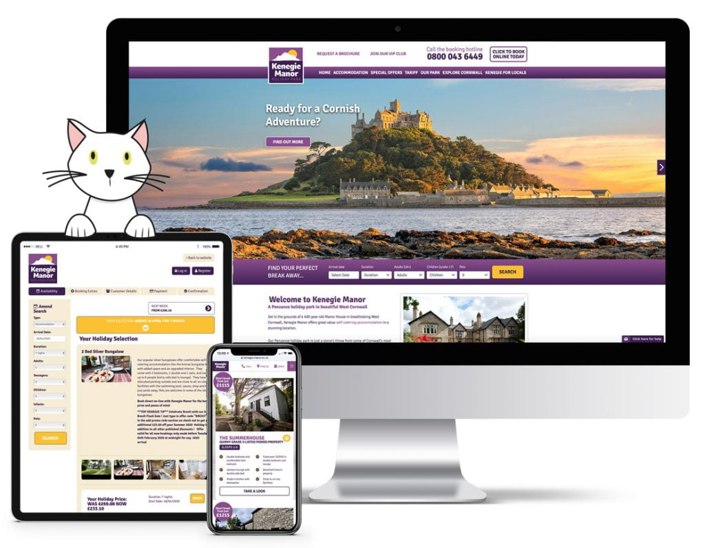 Kenegie Manor Website Mobile Responsive on devices