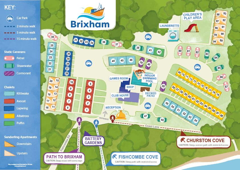 2020 Brixham Holiday Park Map-web