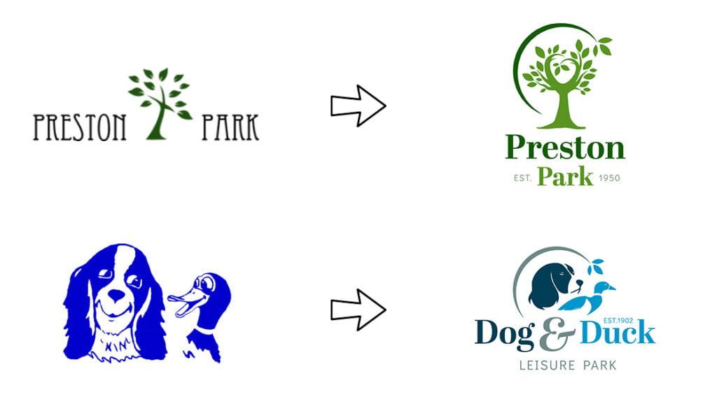 Preston-Park-Dog-Duck-Logo-Evolution